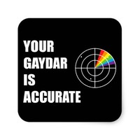 Your gaydar is accurate LGBT Pride Square Sticker