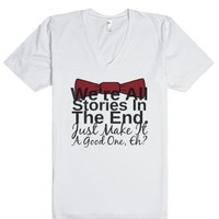Stories-Unisex White T-Shirt