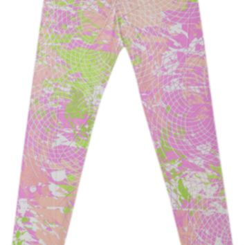 Spring Pastel Abstract Fancy Leggings created by KCavender   Print All Over Me