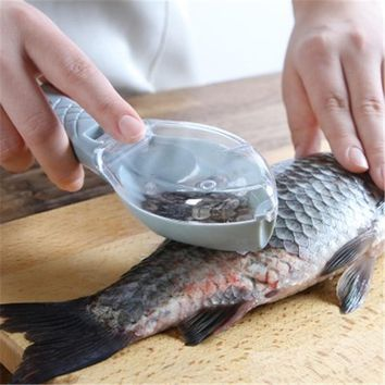1 Pcs Creative Multipurpose Home Kitchen Garden Cooking Tool Clean Convenient Scraping Scale Kill Fish With Knife Machine