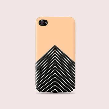 Peachy and cool Chevron Plastic Hard Case - iphone 5 - iphone 4 - iphone 4s - Samsung S3 - Samsung S4 - Samsung Note 2