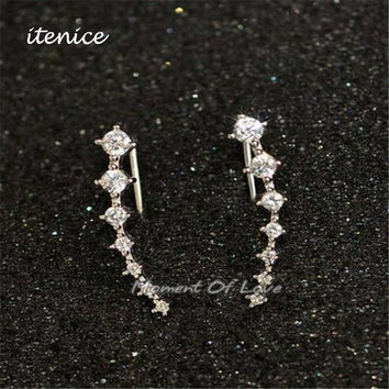 High Quality of The New Fashion Seven Star All Over the Sky Star Zircon Earrings New Dipper Hanging Ears Cuff for Women