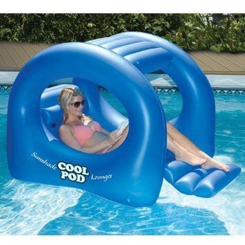 Coolpod Sunshade Lounger Swimming Pool Float: Patio, Lawn & Garden