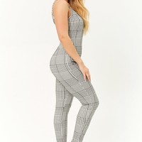 Glen Plaid Cami Jumpsuit