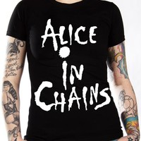 Alice In Chains Girls T-Shirt - Classic Logo