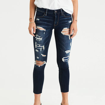 AEO Denim X Jegging Crop, Dark Stormy