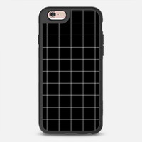 The Next Generation of iPhone Cases by Casetify | White Grid in Black Design by Pencil Me In (iPhone 6, 6s, 6 Plus, 6s Plus, 7)
