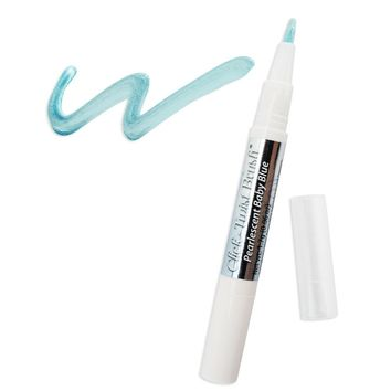 Pearlescent Baby Blue Edible Paint Click Twist Brush