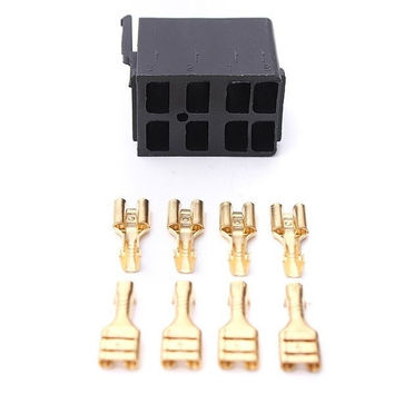 8 pcs Female Spade Terminals & Rocker Switch ARB Plug Socket Carling