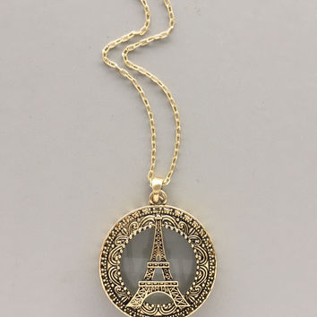 Paris Glass Pendant Necklace
