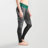 Don't Define the World (Chief of Dreams: Tiger ) Tribe Series Leggings by Soaring Anchor Designs