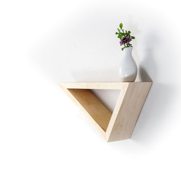 Triangular Floating Maple Shelf