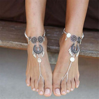 New 1 pc Women Retro Boho Barefoot Sandal Beach Anklet Foot Chain