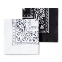 Men's Bandanas - Goodfellow & Co™ White/Black One Size