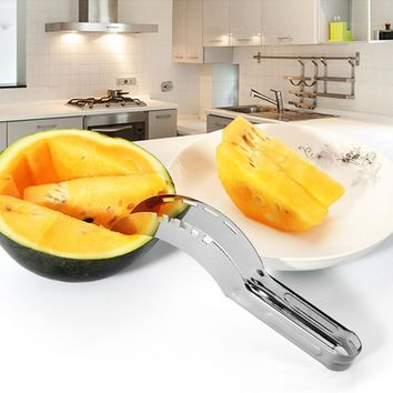 Multipurpose Stainless Steel Fruit Watermelon Cutter knife Cucumis Melon Chopper Salad Cucumber slicers Cooking Kitchen Tools