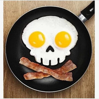 Silicone cooking tools Skull head fried egg mold styling tools kitchen gadgets bluesky H152
