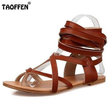 Size 30-50 Fashion Women Shoes Classic Design Gladiator Sandals Women Flat Shoes Bohem