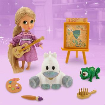 Licensed cool Disney Store Animators' Tangled Rapunzel & Pascal Mini Doll Figure Playset NEW
