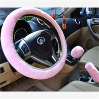 Soft Plush Car Auto Steering Wheel Cover