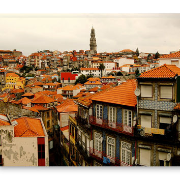 Porto Portugal Rooftops Canvas Gallery Wrap