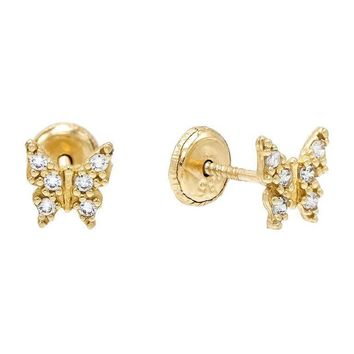Gold Butterfly Studs 14KT