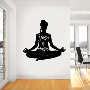 Yoga is Magic Vinyl Wall Words Decal Sticker Graphic