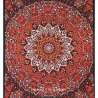 Psychedelic Indian Star Print Cotton Dorm Room Decor Tapestry Wall Hanging Bedspread Art on RoyalFurnish.com