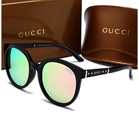 GUCCI Fashion Ladies Men Personality Summer Sun Shades Eyeglasses Glasses Sunglasses Pink I-HWYMSH-YJ