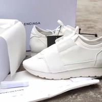 Balenciaga Women's Arena Leather Casual Sneakers Shoes