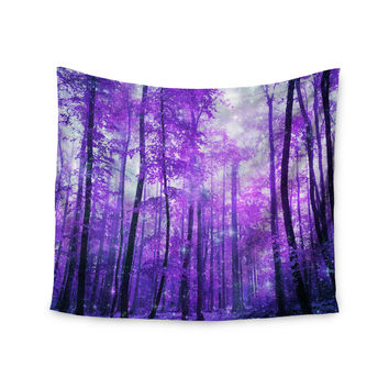 "Iris Lehnhardt ""Magic Woods"" Purple Forest Wall Tapestry"