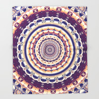 Abstractions in colors (Mandala) Throw Blanket by Octavia Soldani | Society6