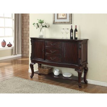Aesthetically Designed Commodious Side Board, Brown By Crown Mark