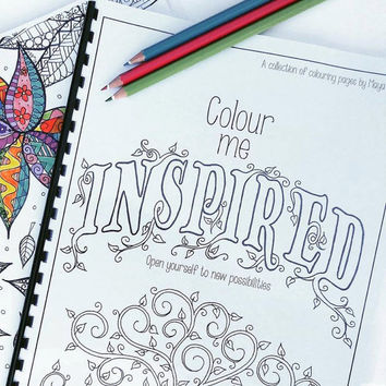 Printable Adult Coloring Book - Zentangle Colouring Book Downloadable pdf