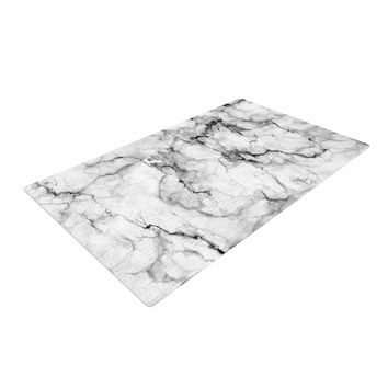 "Chelsea Victoria ""Marble No 2 "" Black Modern Woven Area Rug"