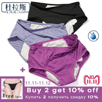 Physiological Pants Leak Proof Menstrual Women Underwear Period Panties Cotton Health Seamless Briefs High Waist Warm Female