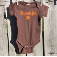 Thankful Thanksgiving Baby Bodysuit, Baby's 1st Thanksgiving, Thanksgiving Baby
