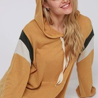 Color Block Knit Hoodie