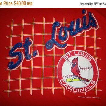 New Year Sale Vintage 1990 St-Louis Cardinals MLB 90s 50/50 by Champion Products T Shirt Baseball Collection