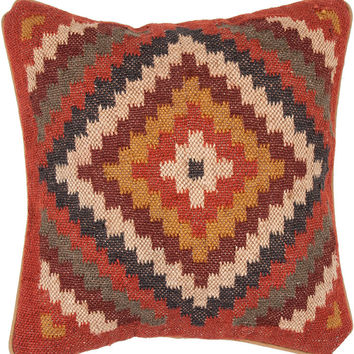 Diamond Kilim Throw Pillow