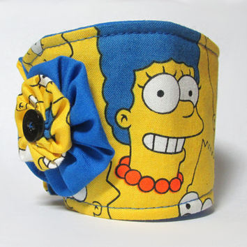 Coffee Cup Cozy / the Simpsons / Drink Sleeve / Cartoon / Blue & Yellow / Geekery / Coffee Cozy / Cup Cozies / TV Shows / Homer