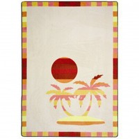 Joy Carpets Summer Solstice Paradise Isle Outdoor Rug - 1644 - Striped Rugs - Area Rugs by Style - Area Rugs