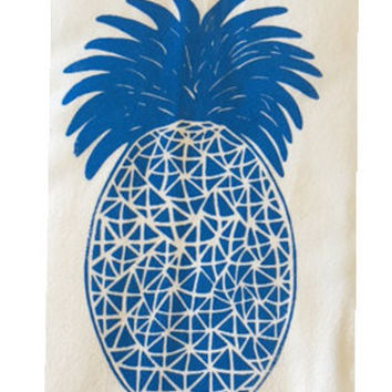 Pineapple Flour Sack Dish Towels-Swiss Blue