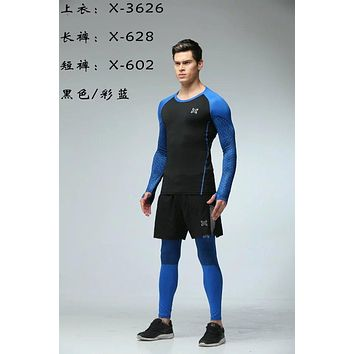 Factory Price! Men Compression Wear Under Pro Base Layer Long Sleeve T-Shirt Sets