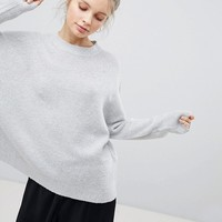 Bershka Oversized Soft Knit Sweater at asos.com