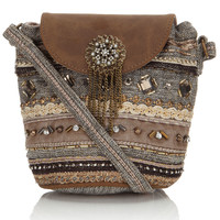 Pushkar Mini Pouch Bag | Gold | Accessorize