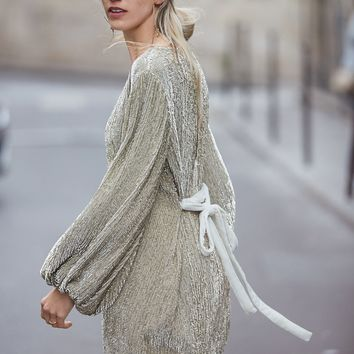 Free People Moonglow Sequin Mini Dress