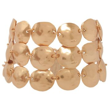 LUCIE STATEMENT BRACELET IN ROSE GOLD