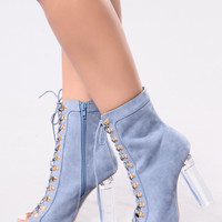 Shock Me Heel - Blue