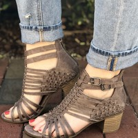 Take Me Home Heels- Grey