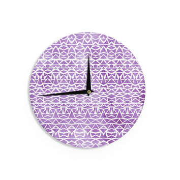 "Pom Graphic Design ""Tribal Mosaic"" Wall Clock"